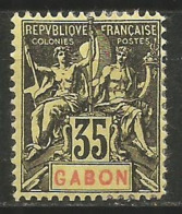 GABON YVERT NUM. 25 * NUEVO CON FIJASELLOS - Gabon (1886-1936)