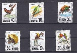 Corée Du Nord YV 2403/8 MNH 1993 Oiseaux - Passereaux