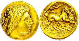 Teos, Stater (8,55g), Philipp II., 359-336 V. Chr. Av: Apollokopf Nach Rechts. Rev: Biga Nach Rechts, Im Feld Rechts Ein - Antike