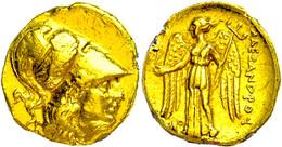 Stater (8,53g), Ca. Ende Des 4. Jhdt. V. Chr. Av: Athenakopf Mit Korinthischem Helm Nach Rechts. Rev: Stehende Nike Nach - Antike