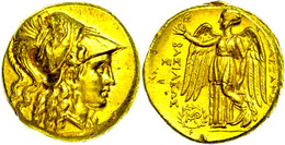 Babylon, Stater (8,55 G), Posthum, 311/305 V. Chr., Alexander III. Av: Athenakopf Mit Korinthischem Helm Nach Rechts. Re - Antike