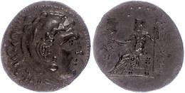 Makedonien, Aspendos, Tetradrachme (15,82g), Postume Prägung Kleinasiens, Ca. 205/4 V. Chr., Alexander III.. Av: Herakle - Antike