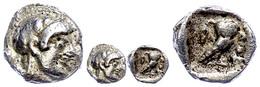 Athen, AR Obol (0,6g), 480 - 460 V. Chr. Av. Athenakopf R. Rs. Eule R. Stehend, L. Olivenzweig, Svoronos Pl. 8, 40ff., S - Antike