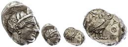 Athen, Tetradrachme (17,23g), Ca. 421-415 V. Chr., Av: Athenekopf Mit Attischem Helm Nach Rechts, Rev: Eule Nach Rechts, - Antike
