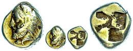 Phokaia, Elektron-Hekte (2,54g), 477-388 V. Chr.. Av: Herakleskopf Mit Löwenfell Nach Links. Rev: Quadratum Incusum, Bod - Antike