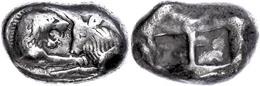 Stater (10,49g), 561-546 V. Chr., Kroisos, Sardeis. Av: Löwen Und Stierprotome Einander Gegenüber. Rev: Zwei Quadratisch - Antike