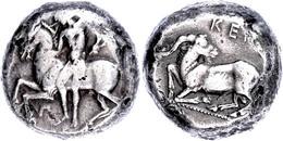 Kelenderis, Stater (10,79g), Ca. 430-420 V. Chr. Av: Nackter Reiter Zu Pferd Nach Links. Rev: Ziegenbock Nach Links Knie - Antike