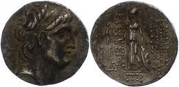 Damaskus, Tetradrachme (16,40g), Antiochos VII., 138-129 V. Chr., Av: Kopf Nach Rechts. Rev: Stehende Athena Nach Links. - Antike