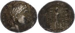 Tarsos, Tetradrachme (16,46g), Antiochos VII., 138-129 V. Chr., Av: Kopf Nach Rechts. Rev: Stehende Athena Nach Links. S - Antike