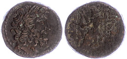 Antiochia, Ae (12,98g), Ca. 1. Jahrhundert  V. Chr. Av: Zeuskopf Nach Rechts. Rev: Thronender Zeus Nach Links. Ss.  Ss - Antike
