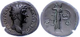 Marcus Aurelius, 139-161, As (12,90g). Av: Kopf Nach Rechts, Darum Umschrift. Rev: Stehende Minerva Mit Schild Und Speer - Römische Münzen