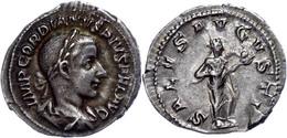 Gordianus III., 238-244, Antoninian (2,66g). Av: Büste Nach Rechts, Darum Umschrift. Rev: Stehender Salus Mit Schlange N - Römische Münzen