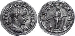 Gordianus III., 238-244, Antoninian (3,18g). Av: Büste Nach Rechts, Darum Umschrift. Rev: Stehende Laetitia Nach Links,  - Römische Münzen