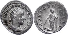 Gordianus III., 238-244, Antoninian (3,99g). Av: Büste Nach Rechts, Darum Umschrift. Rev: Stehende Providentia Mit Scept - Römische Münzen