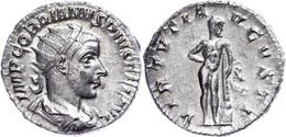 Gordianus III., 238-244, Antoninian (4,47g). Av: Büste Nach Rechts, Darum Umschrift. Rev: Stehender Herkules Von Vorn, D - Römische Münzen