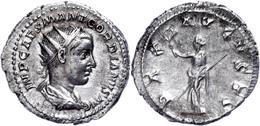 Gordianus III., 238-244, Antoninian (4,48g). Av: Büste Nach Rechts, Darum Umschrift. Rev: Stehende Pax Nach Links, Darum - Römische Münzen