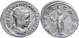 Gordianus III., 238-244, Antoninian (4,50g). Av: Büste Nach Rechts, Darum Umschrift. Rev: Stehende Providentia Nach Link - Römische Münzen