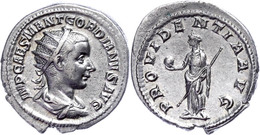 Gordianus III., 238-244, Antoninian (4,56g). Av: Büste Nach Rechts, Darum Umschrift. Rev: Stehende Providentia Mit Scept - Römische Münzen