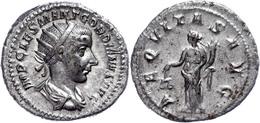 Gordianus III., 238-244, Antoninian (5,13g). Av: Büste Nach Rechts, Darum Umschrift. Rev: Stehende Aequitas Mit Füllhorn - Römische Münzen