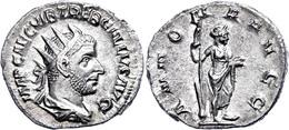 Trebonianus Gallus, 251-253, Antoninian (2,78g). Av: Büste Nach Rechts, Darum Umschrift. Rev: Stehende Annona Nach Recht - Römische Münzen
