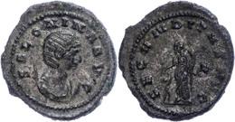 Salonina, 265/266, Antoninian (5,50g), Rom. Av: Büste Nach Rechts, Darum Umschrift. Rev: Stehende Fecunditas Nach Links, - Römische Münzen