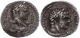 Phönizien, Tyros, Tetradrachme (12,81g), Caracalla, 213-217, Av: Kopf Nach Rechts, Rechts Keule, Darunter Adler Nach Rec - Römische Münzen