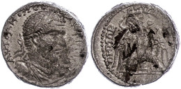 Byblus, Tetradrachme (16,65g), Macrinus, 217-218, Av: Büste Nach Rechts, Darum Umschrift, Rev: Adler Nach Links Blickend - Römische Münzen