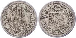 2 Kreuzer, 1571, Ferdinand, Hall, Schrötlingsfehler, Ss.  Ss - Austria