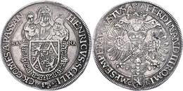 Schlick, Taler, 1645, Heinrich IV., Dav. 3408, Ss-vz.  Ss-vz - Austria