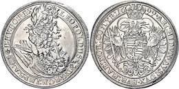 Taler, Leopold I., 1699 KB-Kremnitz, Herinek 746, Dav. 3264, Henkelspur, Gereinigt, Fast Vz. - Austria