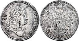 Taler, 1720, Karl VI., Prag, Dav. 1080, Herinek 377, Schrötlingsfehler, Rand Teilweise Leicht Bearbeitet, Ss-vz.  Ss - Austria