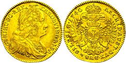 Dukat, 1740, Karl VI., Breslau, Fb. 376, Avers Ss, Revers Ss-vz. - Austria