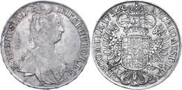 Taler, 1752, Maria Theresia, Hall, Eypeltauer 79, Ss+. - Austria