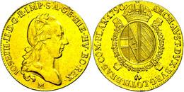 Sovrano, 1790, Joseph II., Mailand, Herinek 111, Kl. Rf., Ss+. - Austria