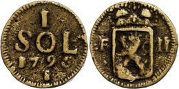 Sol (14,84g), Messing Gegossen, 1796, Franz II., S-ss.  S-ss - Austria