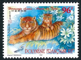 POLYNESIE 1998 - Yv. 555 ** SUP  Faciale= 0,81 EUR - Horoscope Chinoix, Année Du Tigre  ..Réf.POL24703 - Polynésie Française