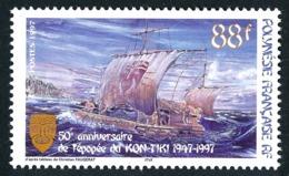 POLYNESIE 1997 - Yv. 548 **   Faciale= 0,74 EUR - Radeau Du Kon-Tiki  ..Réf.POL24699 - Polynésie Française