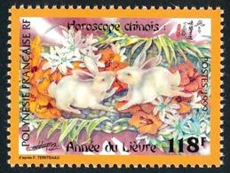 POLYNESIE 1999 - Yv. 579 ** SUP  Faciale= 0,99 EUR - Année Du Lièvre. Horoscope Chnois  ..Réf.POL24713 - Polynésie Française