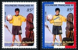 POLYNESIE 1998 - Yv. 565 Et 571 **   Faciale= 1,43 EUR - Football France'98 Coupe Du Monde  ..Réf.POL24707 - Polynésie Française