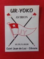 Autocollant UR-YOKO AVIRON SAINT JEAN DE LUZ CIBOURE 10 X 7  Cm Neuf - Roeisport