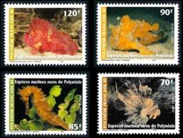 POLYNESIE 1999 - Yv. 580 581 582 Et 583 ** SUP  Faciale= 3,07 EUR - Espèces Marines Rares (4 Val.)  ..Réf.POL24714 - Polynésie Française