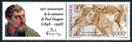 POLYNESIE 1998 - Yv. 564 ** Avec Vignette  Faciale= 8,40 EUR - Paul Gauguin  ..Réf.POL24706 - Polynésie Française