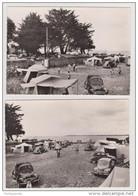 2 Carte Photo - CONCARNEAU (29 - Finistère) - Camping De Kernako N°48 & 49 / Auto Traction 4CV 2CV Aronde - Concarneau