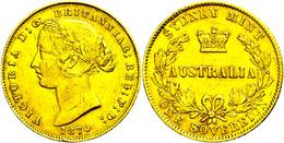 Sovereign, Gold, 1870, Victoria, Fb. 10, Kl. Rf., Ss.  Ss - Non Classés