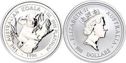 100 Dollars, Platin, 1998, Koala, In Kapsel, St.  St - Non Classés