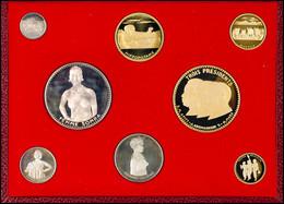 Dahomey, Set Zu 100, 200, 500 Und 1000 Francs Silber Sowie 2500, 5000, 10000 Und 25000 Francs Gold, 1970, Fb. 4, 3, 2 Un - Benin