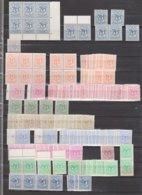 Belgique 849/59** Accumulation Non Triée - Différents Papiers - Nuances De Couleurs - Neufs