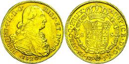 8 Escudos, Gold, 1820, Ferdinand VII., JF, Santa Fe De Nuevo Reino, Fb. 60, Ss.  Ss - Colombia