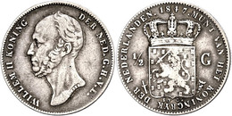 1/2 Gulden, 1847, Wilhelm II., Schulman 530, Ss.  Ss - Paesi Bassi