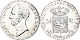 2 1/2 Gulden,1847, Wilhelm II., Utrecht, Schulman 514, Kl. Rf., Ss  Ss - Paesi Bassi